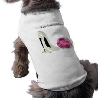 Bouquet Roses and Wedding Stiletto Gifts Doggie Tee