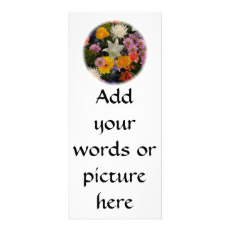 Bouquet: roses, mums, lily, irises, dahlias rack card