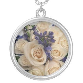 Bouquet Round Pendant Necklace
