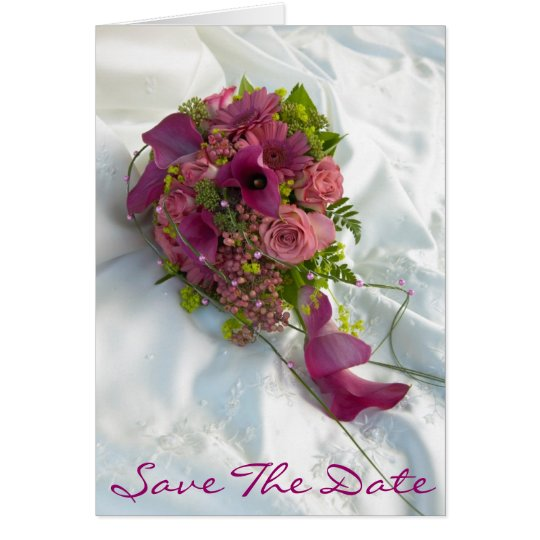 Bouquet Save the Date Card