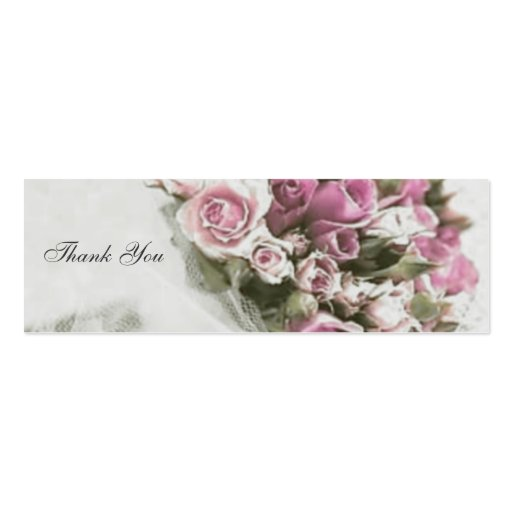 Bouquet Thank You Wedding Favor Tag Business Card