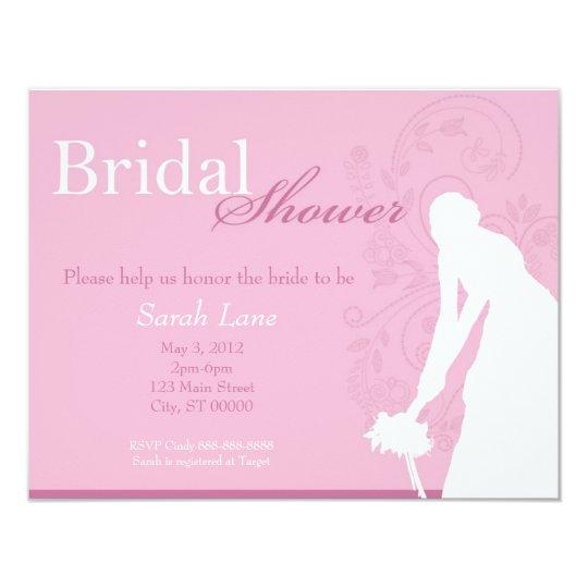 Bouquet Toss Bridal Shower - Pink Card