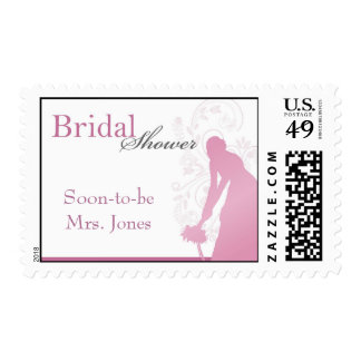 Bouquet Toss Bridal Shower - Pink & White Stamps
