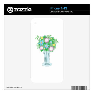 Bouquet Vase Skin For The iPhone 4