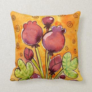 bouquet watercolor pillows