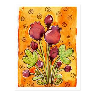 bouquet watercolor postcard