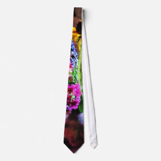 Bouquet With Black-Eyed Susans and Phlox Neck Tie