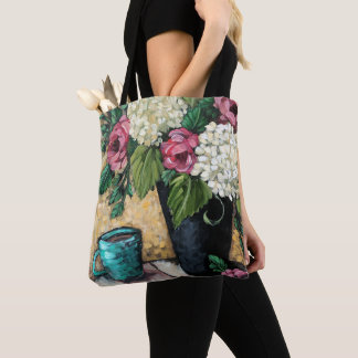 """""""Bouquet with Coffee"""" Fine Art Floral Tote Bag"""