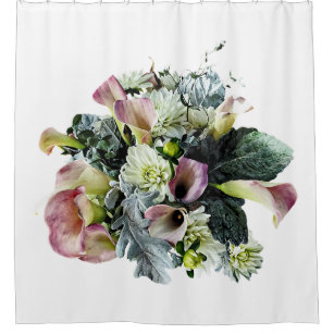 Bouquet With Pink Calla Lilies Shower Curtain