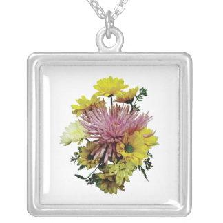 Bouquet With Purple cSpider Mum Custom Necklace