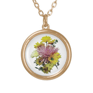 Bouquet With Purple Spider Mum Custom Jewelry