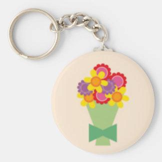 bouquetbright basic round button keychain