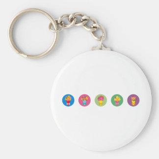 bouquetrainbow basic round button keychain