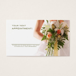 bouquets bridal shop wedding planner business business card