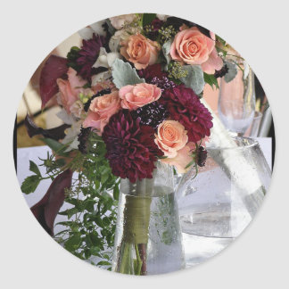 Bouquets Classic Round Sticker