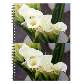 bouquets of calla lilies notebook