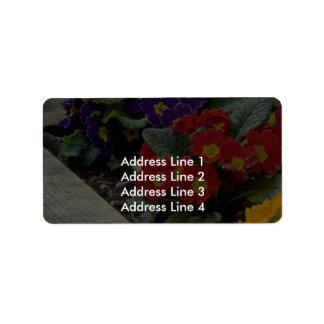 Bouquets On Ground Address Label