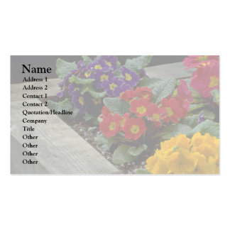 Bouquets On Ground Double-Sided Standard Business Cards (Pack Of 100)