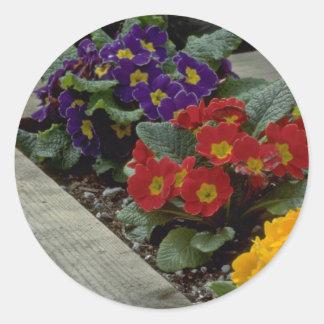 Bouquets On Ground Round Sticker