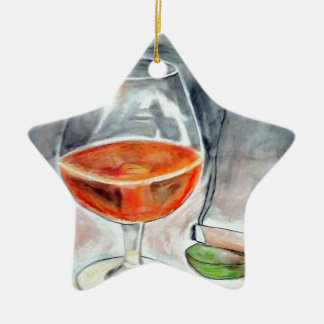 Bourbon and Smoke Ceramic Ornament