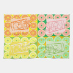 Bourbon and vodka and gin, oh, my! kitchen towel