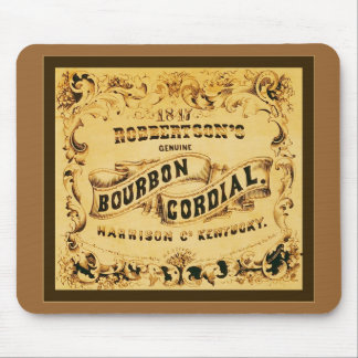 Bourbon Cordial ~ Vintage Advertising Mouse Pad