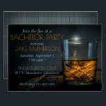 "Bourbon Gentleman Plaid Bachelor Invitation<br><div class=""desc"">Masculine and classy, this flat card invitation is perfect for men"