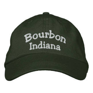 Bourbon, IN Embroidered Baseball Cap