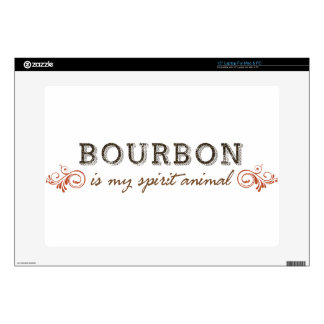 Bourbon Is My Spirit Animal Laptop Decal