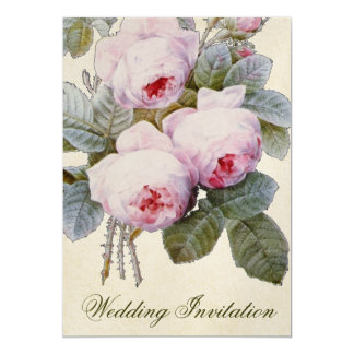 Bourbon Rose Floral Wedding Invitation