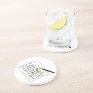 BOURBON SHOPPING LIST COCKTAIL HUMOR DRINK COASTER