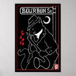 Bourbon St. Cat Poster