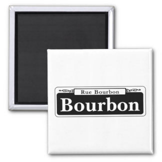 Bourbon St., New Orleans Street Sign 2 Inch Square Magnet