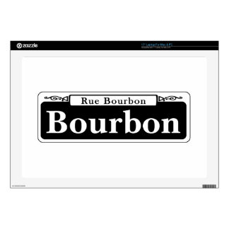 Bourbon St., New Orleans Street Sign Decal For Laptop
