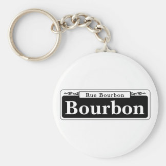 Bourbon St., New Orleans Street Sign Keychain