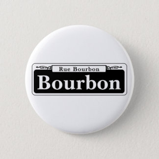 Bourbon St., New Orleans Street Sign Pinback Button