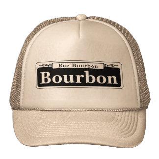 Bourbon St., New Orleans Street Sign Trucker Hat
