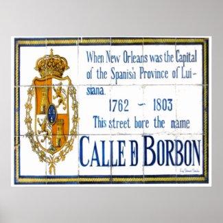 Bourbon St Tile Mural print