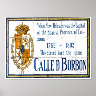 Bourbon St. Tiles poster