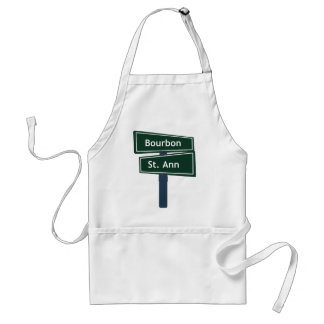 Bourbon Street and St. Ann Classic Street Sign Adult Apron