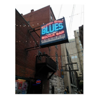 Bourbon Street Blues Boogie Bar Nashville TN Postcard