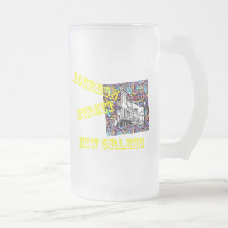BOURBON STREET FROSTED GLASS BEER MUG