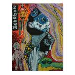 Bourbon Street Mardi Gras Art Postcard