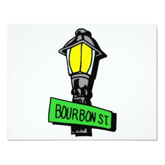 Bourbon Street Mardi Gras Card