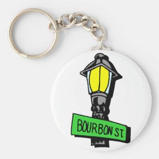 Bourbon Street Mardi Gras Key Chain