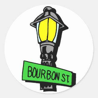 Bourbon Street Mardi Gras Sticker