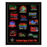 Bourbon Street Neon Signs Poster