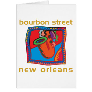Bourbon Street New Orleans Greeting Cards