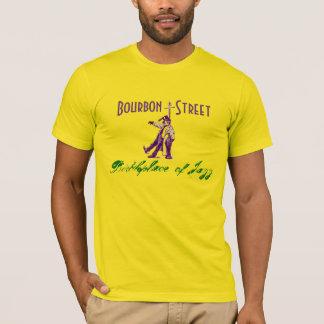 Bourbon Street NOLA Birthplace of Jazz Mardi Gras T-Shirt
