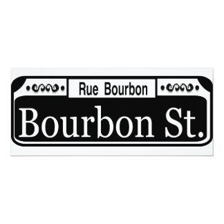 Bourbon Street Sign Card